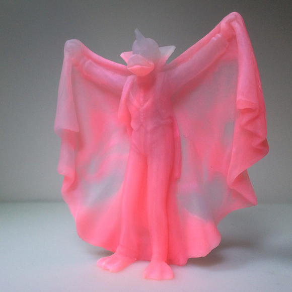 QUACKULA (GLOWING REALITIES) figure by David Healey, produced by Healeymade. Front view.