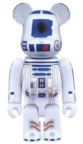 R2-D2 STAR WARS 40th Anniv. Ver. BE@RBRICK 100% figure, produced by Medicom Toy. Front view.