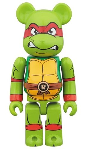 Raphael BE@RBRICK 100% figure, produced by Medicom Toy. Front view.