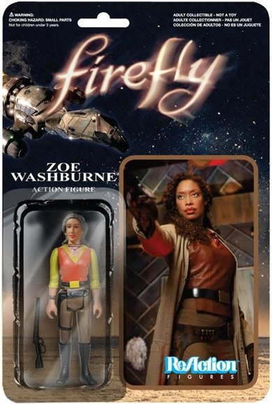 ReAction Firefly - Zoe Washburne figure by Super7, produced by Funko. Packaging.