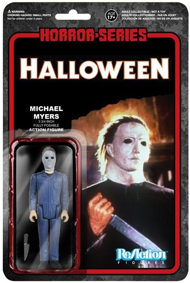 ReAction Horror Series - Michael Myers figure by Super7, produced by Funko. Packaging.