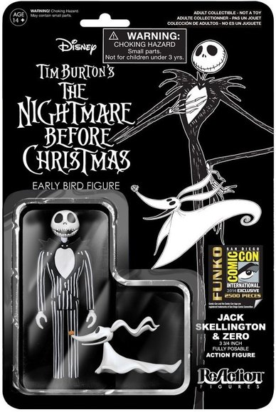Reaction the nightmare before christmas jack skellington zero reaction the nightmare before christmas jack skellington zero sdcc 2014 figure by super7 publicscrutiny Images