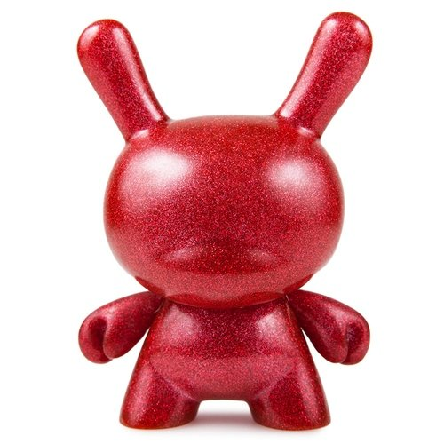 Red Chroma figure, produced by Kidrobot. Front view.