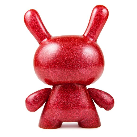 Red Chroma figure, produced by Kidrobot. Back view.