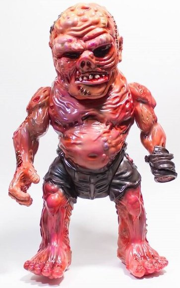 RETROBAND MEATS MUTANT MARBLE V. 3 figure by Aaron Moreno, produced by Unbox Industries. Front view.