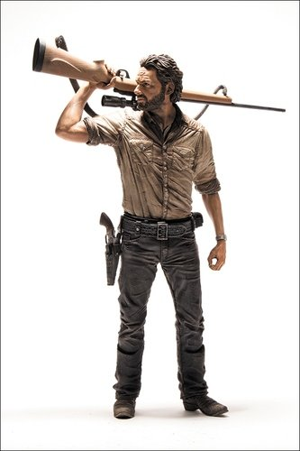 Rick Grimes Deluxe Figure figure by Todd Mcfarlane, produced by Mcfarlane Toys. Front view.