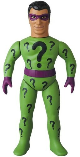 Riddler (リドラー) figure by Dc Comics, produced by Medicom Toy. Front view.