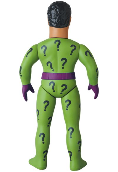 Riddler (リドラー) figure by Dc Comics, produced by Medicom Toy. Back view.