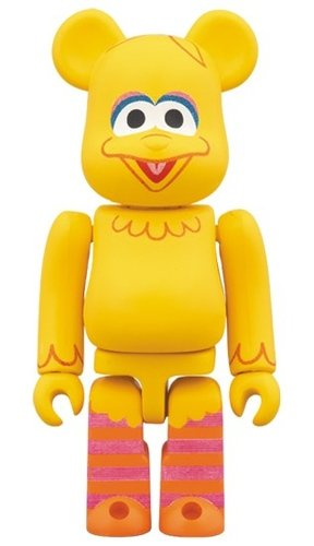 Sesame Street - BIG BIRD BE@RBRICK 100% figure, produced by Medicom Toy. Front view.