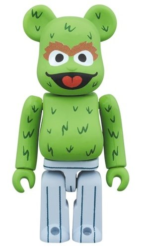 Sesame Street - OSCAR THE GROUCH BE@RBRICK 100% figure, produced by Medicom Toy. Front view.