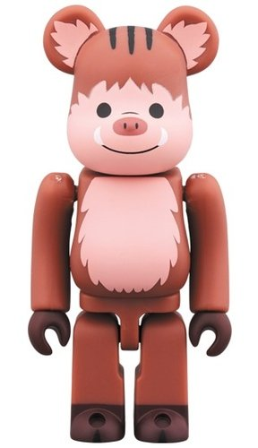 Sexagenary cycle - Pig BE@RBRICK 100% figure, produced by Medicom Toy. Front view.