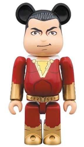 SHAZAM! BE@RBRICK 100% figure, produced by Medicom Toy. Front view.