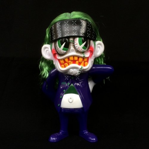 SKUM-kun Cherry Supervillain Edition figure by Knuckle X Suicidal Tendencies, produced by Blackbook Toy. Front view.
