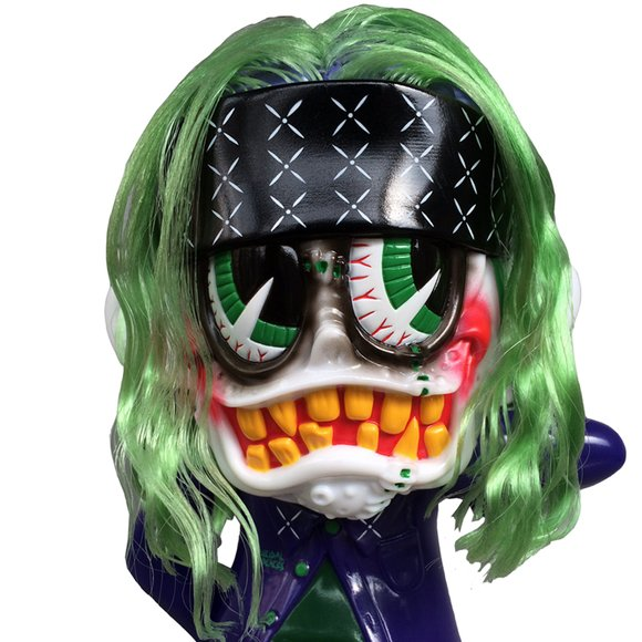 SKUM-kun Cherry Supervillain Edition figure by Knuckle X Suicidal Tendencies, produced by Blackbook Toy. Detail view.