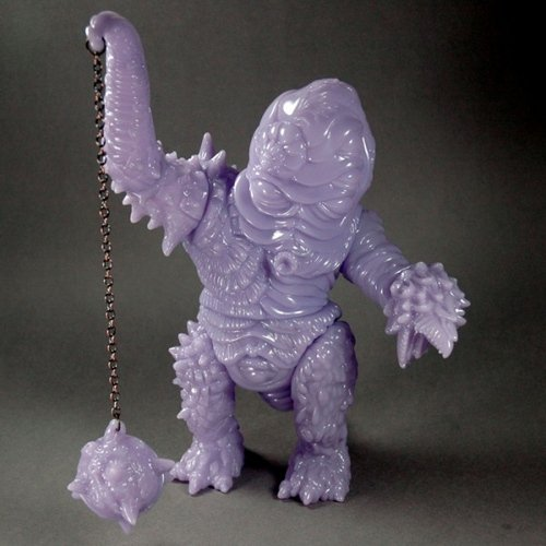Slugbeard (unpainted milky-purple) figure by Paul Kaiju, produced by Toy Art Gallery. Front view.