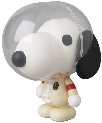 Snoopy & Woodstock - VCD No.226 figure by Bape, produced by Medicom Toy. Front view.