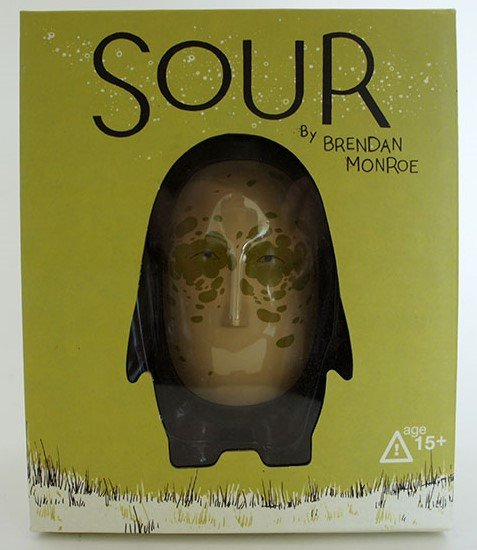 Sour figure by Brendan Monroe, produced by Android8. Packaging.