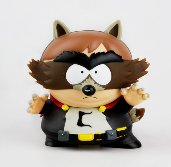 South Park The Fractured But Whole The Coon figure by Comedy Partners, produced by Kidrobot. None.