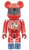 SPACE SUIT ORANGE Ver. BE@RBRICK 100%