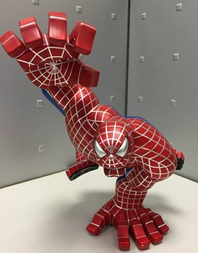 Spiderman figure, produced by Coarsetoys. Front view.