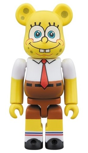 SpongeBob BE@RBRICK 100% figure, produced by Medicom Toy. Front view.