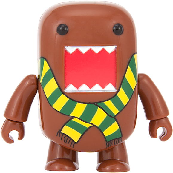 Stripy Scarf Domo Qee figure by Dark Horse Comics, produced by Toy2R. Front view.