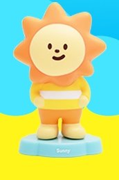 Sunny figure by Fluffy House, produced by Fluffy House. Front view.
