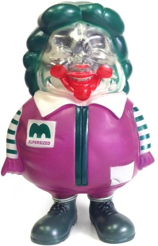 SUPER SIZED ME S.S.F JOKER figure by Ron English, produced by Secret Base. Front view.
