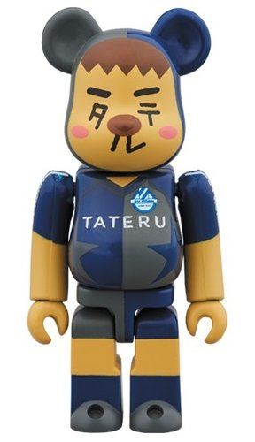 SV HORN x TATERU BE@RBRICK figure, produced by Medicom Toy. Front view.