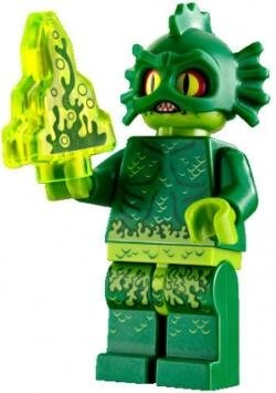 Swamp Creature figure by Lego, produced by Lego. Front view.