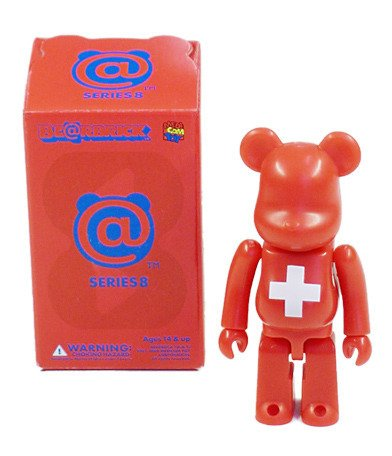 Switzerland - Flag Be@rbrick Series 8 figure, produced by Medicom Toy. Packaging.