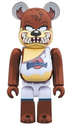 TASMANIAN DEVIL BE@RBRICK 100% figure, produced by Medicom Toy. Front view.