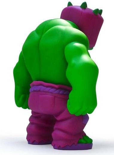 Tequila - Incredible Edition figure by Jerry Frissen And Gobi, produced by Muttpop. Back view.