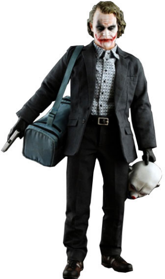 The Joker (Bank Robber) figure by Dc Comics, produced by Hot Toys. Front view.