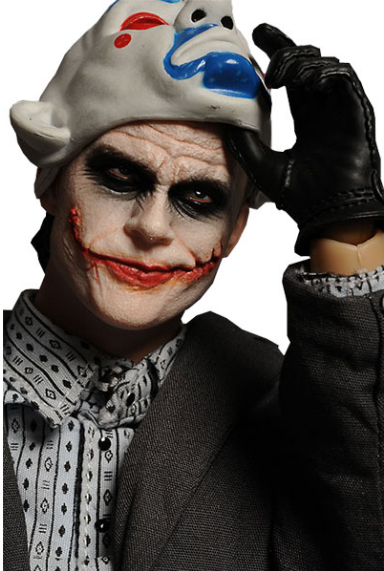 The Joker (Bank Robber) figure by Dc Comics, produced by Hot Toys. Detail view.