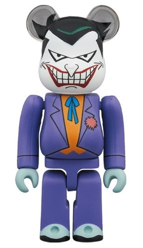 THE JOKER (BATMAN The Animated Series Ver.) BE@RBRICK 100% figure, produced by Medicom Toy. Front view.