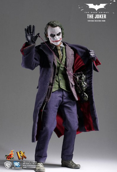 The Joker figure by Jc. Hong, produced by Hot Toys. Front view.