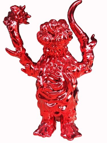 The Last Kaiju - Metalic Red figure by Blobpus, produced by Blobpus. Front view.