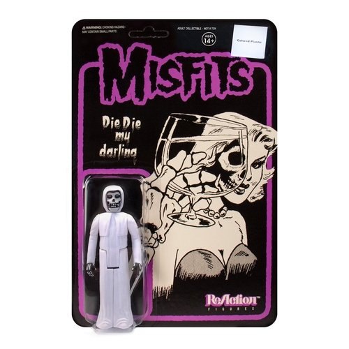 The Misfits - The Fiend (Die Die My Darling - White Edition) figure by Super7, produced by Funko. Front view.