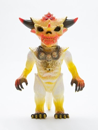 THE SOUR LEMON APALALA figure by Toby Dutkiewicz, produced by Devils Head Productions. Front view.