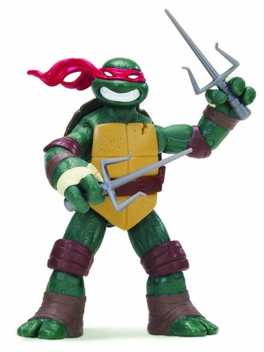 TMNT 2012 Raphael Action Figure figure by Playmates Toys, produced by Playmates Toys. Front view.