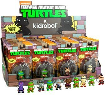 TMNT Keychain - Raphael figure by Viacom, produced by Kidrobot. Packaging.