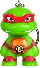 TMNT Keychain - Raphael figure by Viacom, produced by Kidrobot. Front view.