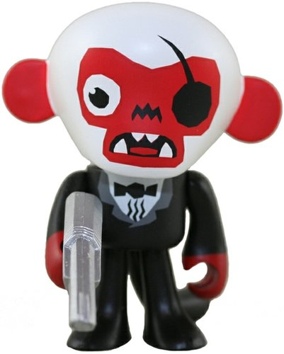Flunk Monkey figure by Vanbeater, produced by Unacat. Front view.