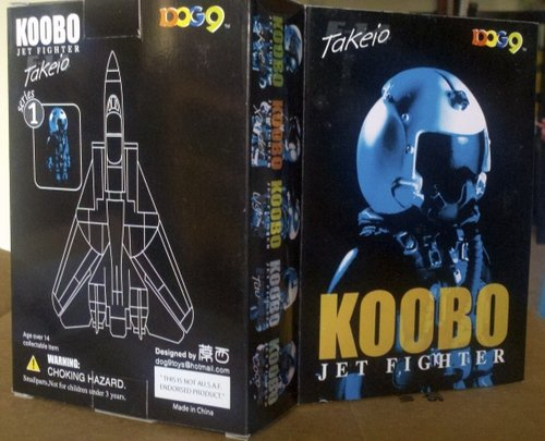 Takeio F-14 pilot figure figure by Koobo Jet Fighter, produced by Koobo. Front view.