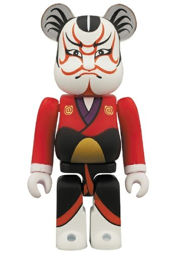 Kabuki 2 Be@rbrick 100% figure by Tokyo Sky Tree, produced by Medicom Toy. Front view.