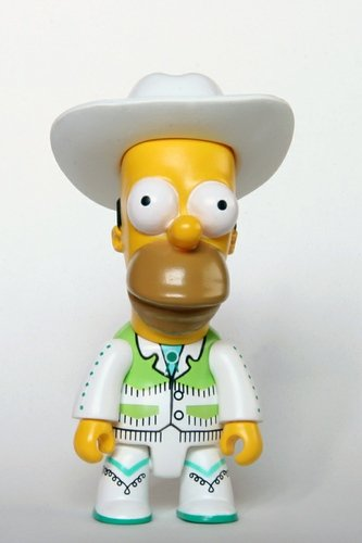 Cowboy Homer figure by Matt Groening, produced by Toy2R. Front view.