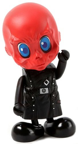 Red Skull figure by Marvel, produced by Hot Toys. Front view.