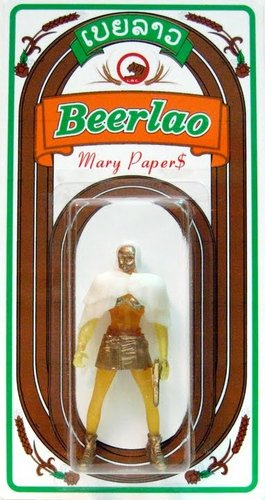 Mary Papers - BeerLao figure by Sucklord, produced by Suckadelic. Front view.
