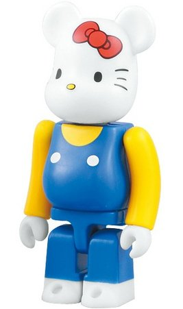 Hello Kitty 35th Anniversary - Animal Be@rbrick Series 18 figure by Sanrio, produced by Medicom Toy. Front view.